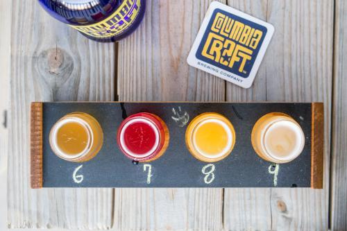 A flight from Columbia Craft Brewery in Columbia, SC