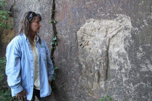 Buffalo Tracks Nature Trail Carvings