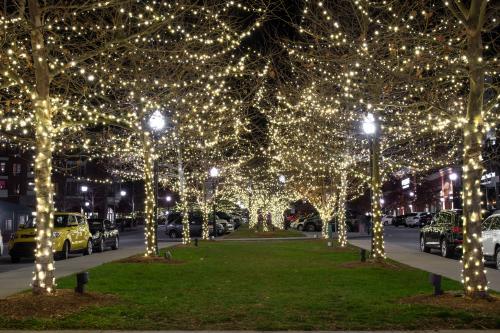 Biltmore Park Town Square Christmas Lights