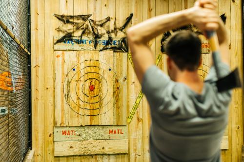 Axe Throwing at Chops & Hops