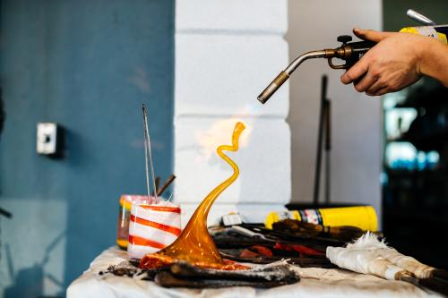 Try your hand at glass-blowing at Hollywood Hot Glass. This Young Circle studio features works from master glass-blowers and offeres hands-on classes for creating your own blown-glass artwork.