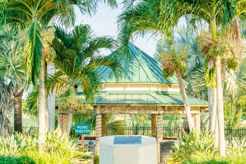 The Ilene Lieberman Botanical Gardens are beautiful to stroll through under blue skies as you take in the art and culture around you.