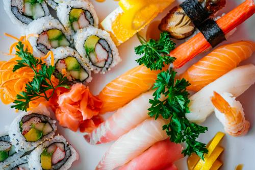 Tataki Asian Bistro is the place to get sushi boats, Thai noodles, and Chinese classics.