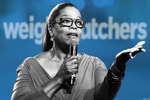 Oprah speaking at Weightwatchers event