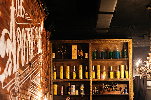 Apothecary 330 makes you feel as if you were in a classic speakeasy in the roaring '20s.