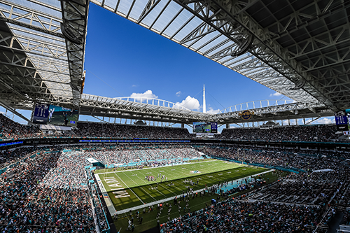 Hard Rock Stadium panorama view