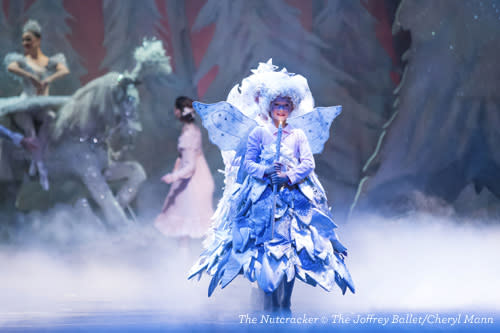 Joffrey Ballet The Nutcracker performer on stage in Chicago