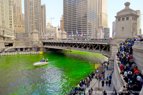 St. Patrick's Day River Dyeing