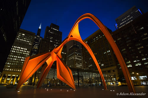 Flamingo by Alexander Calder - Chicago Public Art