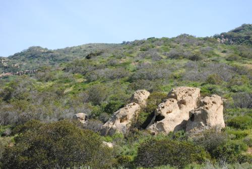 Three Sisters Rock at Shady Canyon in Irvine