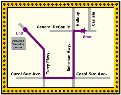 Krewe of Adonis Parade map