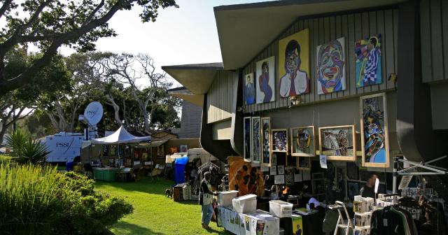 Shopping at the Monterey Jazz Festival