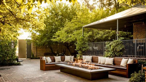 Charter Oak Restaurant Fireplace