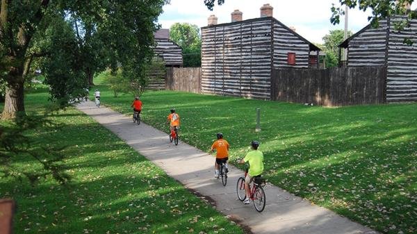 Biking the Trails by the Old Fort