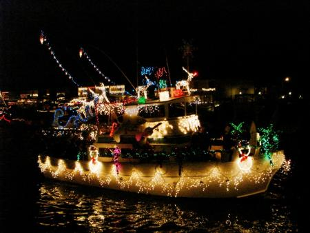 Huntington Harbor rings in the holidays with a cavalcade of decorated boats and houses!