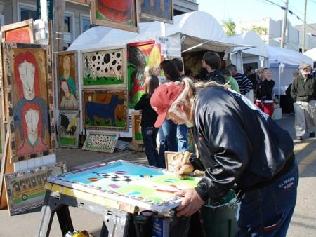 Man paining at Three Rivers Art Festival