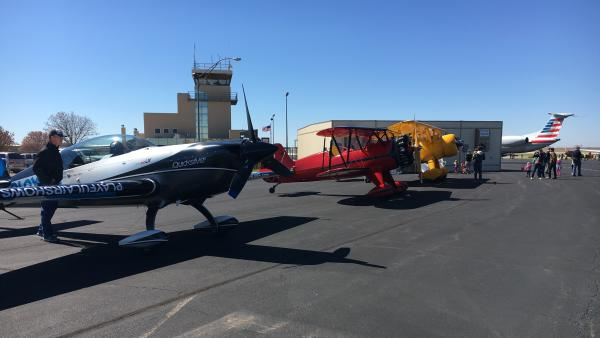 Small Airplanes at Stillwater Regional Airport for Flying Aggies Fly In