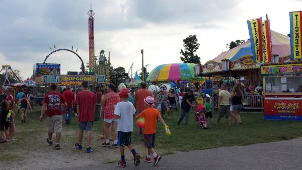 The Midway at the Morgan County Fair