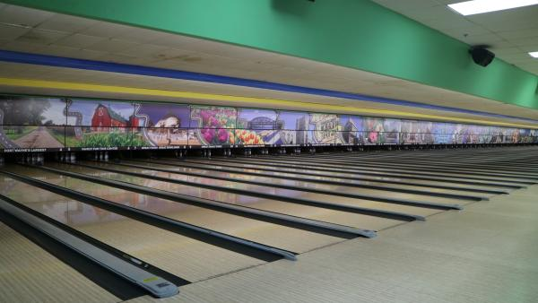 Pro Bowl West - Bowling Lanes Mural - Fort Wayne, IN