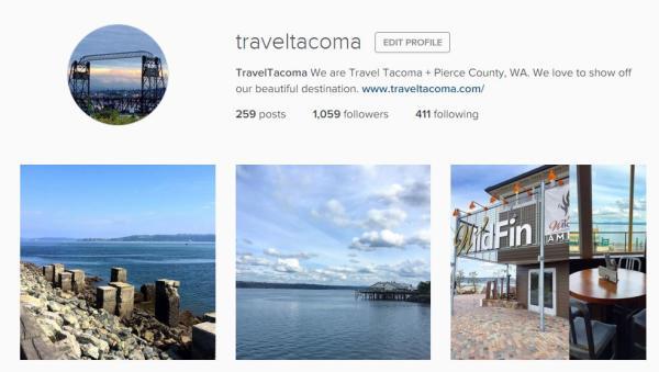 Travel Tacoma Instagram account