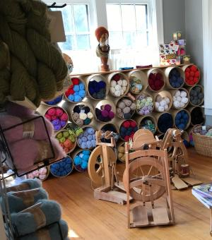 Nomad Yarn, yarns, spinning wheel