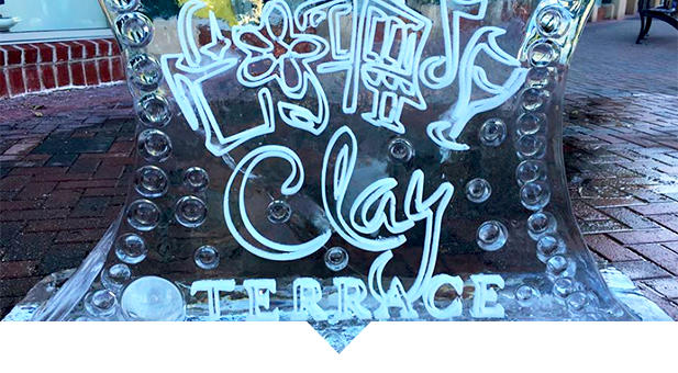 Ice Sculptures at Clay Terrace