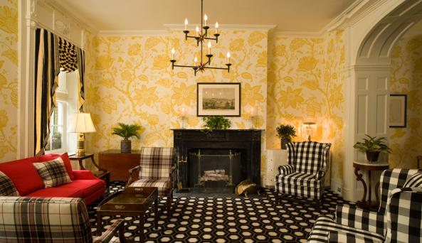 Parlor at the Inn at Cooperstown