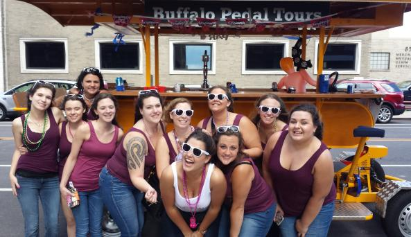 Buffalo Pedal Tours is your number one choice for bachelorette parties!