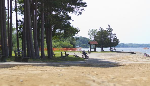 Paved Beach Path