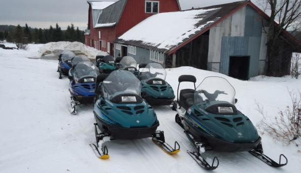 farmhouse snowmobiling
