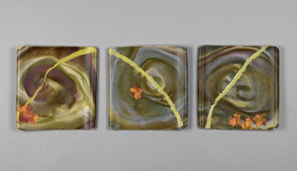 platters - spiral, thin green line & sycamore leaves.jpg