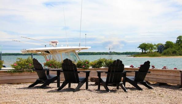 Waterfront seating area