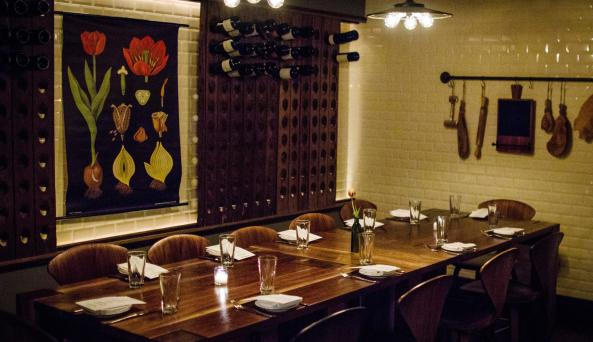 Chefs tasting table at Bread & Tulips on Park Avenue South