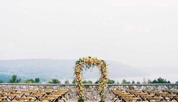 Bristol Harbour Weddings in the Finger Lakes - Outdoor Wedding Ceremony Site
