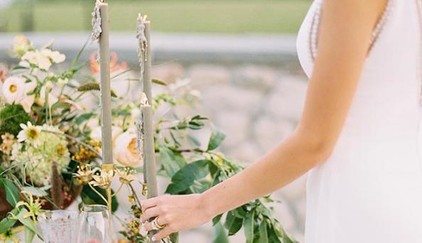 Bristol Bride Admires Sweetheart Table