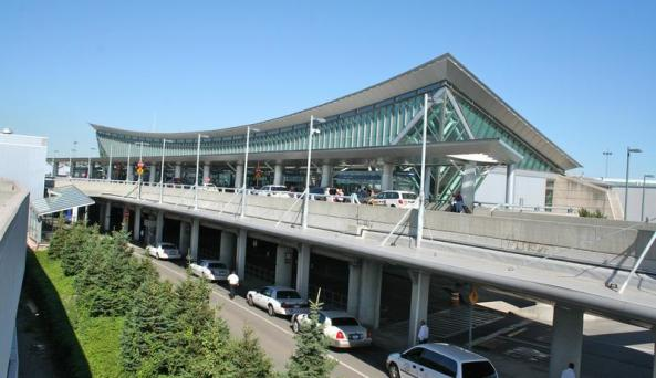 Buffalo Niagara International Airport Two Level Front View