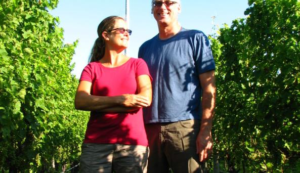 Barbara Shinn and David Page - Photo by Barbara Shinn - Courtesy of Shinn Estate Vineyards