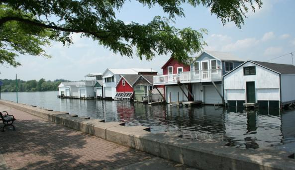 Canandaigua Boathouses at City Pier