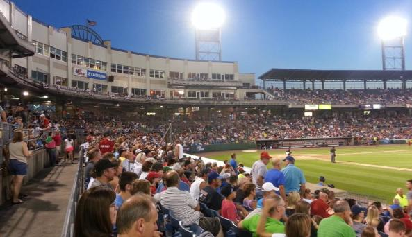 Crowd watching the  Syracuse Chiefs