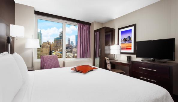 1 King Bed Guest Room with City View