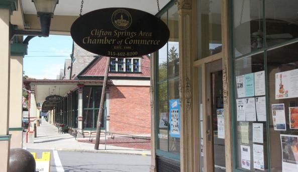 Front entrance to Clifton Springs Chamber of Commerce