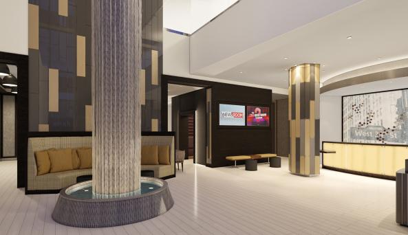 Lobby Waterfall feature
