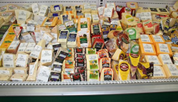 Product display at EVL Cheese