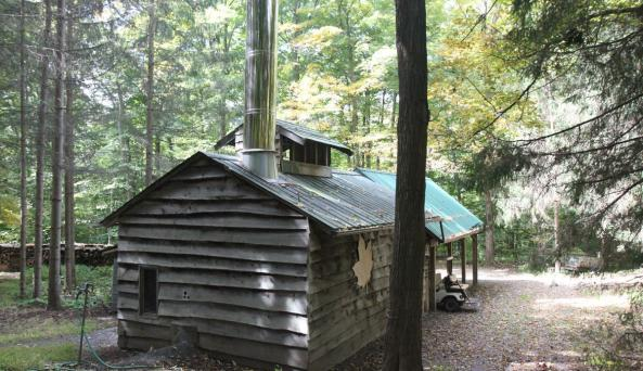 Sugar shack at Everson's Pure Maple Products