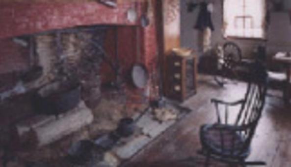Madam Brett - fire place