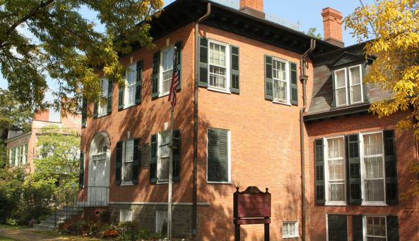 Outside of the Geneva Historical Society's Prouty-Chew House