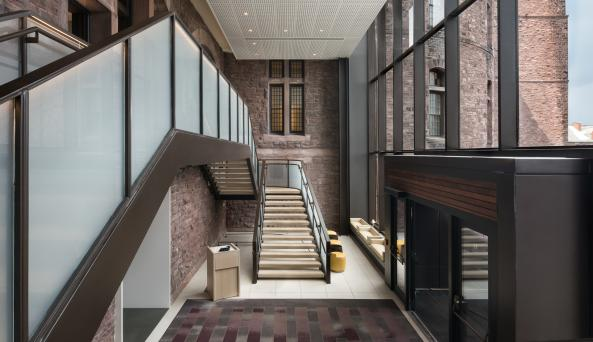 Hotel Henry Glass Entry Stair