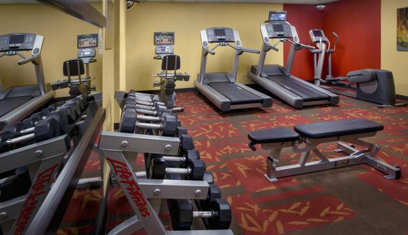 Stay in shape on the road at our fitness center
