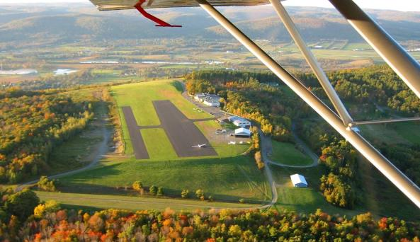 Views of the Chemung Valley from a glider