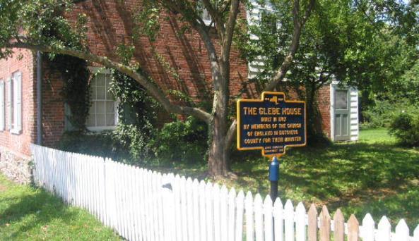 Glebe House - sign